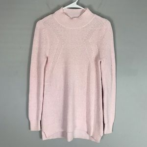 BP. Ribbed knit mock neck sweater pink pullover